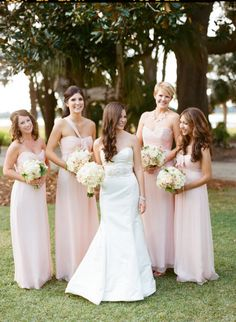 Classic Charleston blush pink wedding: http://www.stylemepretty.com/2014/06/17/classic-charleston-blush-pink-wedding/ | Photography: http://www.marnipictures.com/