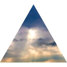 Sky, Clouds & Sunlight Nature Themed Fabric Wall Sticker (Triangle)