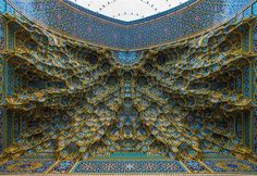 Fatima Masumeh Shrine, Qom, Iran Mesmerizing Mosque Ceilings That Highlight The Wonders Of Islamic Architecture Islamic Architecture, Beautiful Architecture, Art And Architecture, Architecture Details, Architecture Portfolio, Futuristic Architecture, Beautiful Mosques, Beautiful Places, Beautiful Life