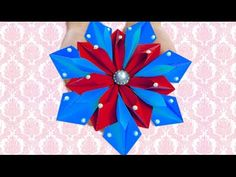 DIY Paper Crafts : How to Make Centre Table Paper Decoration with Origami Flower | DIY Room Decor - YouTube
