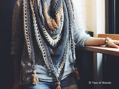 Coffee Shop Wrap - free pattern after underwriting- knot your nana's crochet…