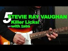 5 killer Stevie Ray Vaughan SRV licks with tabs and scales guitar lesson Srv Guitar, Acoustic Guitar Chords, Guitar Tuners, Guitar Songs, Guitar Tabs, Guitar Riffs, Guitar Scales, Guitar Girl, Lead Guitar Lessons