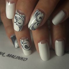 Great gallery of unique nail art designs of 2020 for any season and reason. The best images and creative ideas for your nails. New Year's Nails, Hair And Nails, Nails 2016, Fancy Nails, Pretty Nails, Nail Art Dentelle, Gel Nail Designs, Fabulous Nails, Stylish Nails