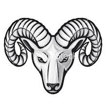 vector head of the ram ram head stock illustration royalty rh pinterest com ram clipart free ram clipart stencil