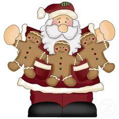 Gingerbread Santa Christmas Ornament