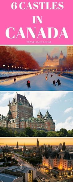 Canadian castles and forts. Across Canada there's a collection of glorious turrets and intricate stonework from some of the most impressive Canadian castles and forts. I live here, but I still want to see these. Ontario, Places To Travel, Travel Destinations, Places To Go, Travel Tourism, Travel Tips, Canada Winter, Rocky Mountains, Canada Vancouver