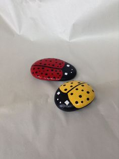 A personal favorite from my Etsy shop https://www.etsy.com/listing/232634964/hand-painted-ladybug-garden-rocks