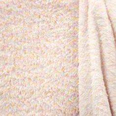 Fell-Kunstfell-Doppelseitig-Double-Face-Teddy-Stoff-wollweiss-rosa-bunt-meliert