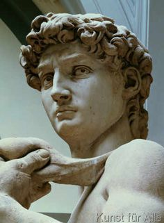 Michelangelo Buonarroti - David, detail of the head by Michelangelo Buonarroti (1475-1564), 1504