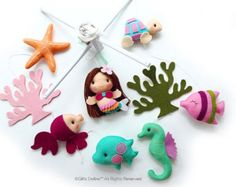 Free US Ship Mermaid Girl or Boy with Under the Sea Fish