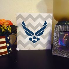 Custom Chevron Military Logo Wooden Sign by FleetFoxCo on Etsy $18.00! Love this!