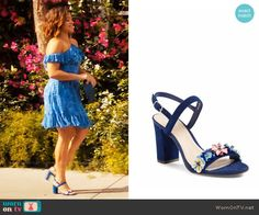 BP Lula Block Heel Slingback Sandal worn by Jane Villanueva on Jane the Virgin / revolve dress Jane The Virgin, Date Outfits, Fashion Outfits, Womens Fashion, Gina Rodriguez, Yellow Floral Dress, Floral Sandals, Button Front Dress, Crazy Shoes