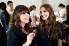 Avon Celebrity Makeup Artist @jamiemakeup  backstage at the Dennis Basso Spring 2015 runway show at #NYFW!