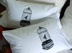 screen printed pillow cases