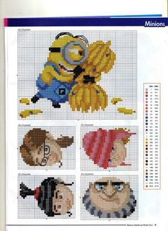 Despicable Me Minions Cross Stitch (Anchor and DMC colours) Page D [1]