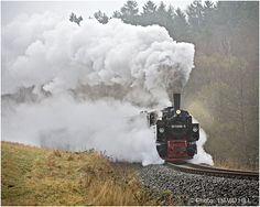 Harz Railway, one of the few steam engines left