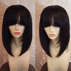 SHARE & Get it FREE | Medium Straight Bob Neat Bang Synthetic WigFor Fashion Lovers only:80,000+ Items·FREE SHIPPING Join Dresslily: Get YOUR $50 NOW!