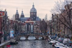 https://flic.kr/p/dYWSGK | Amsterdam sunset | Oudezijds Voorburgwal - Amsterdam - the Netherlands