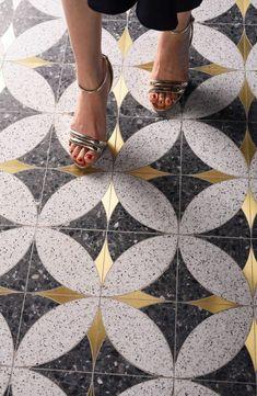 Mosaique Surface - Stella 03 | Opus Artis Foyer Flooring, Stone Flooring, Floor Patterns, Textures Patterns, Geometric Patterns, Tile Accent Wall, Perfect Marriage, Tile Installation, Floor Design