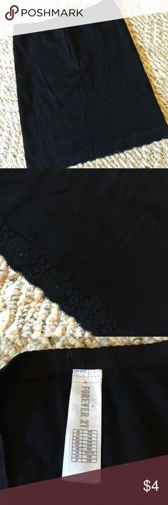 Black lace hem skirt slip Black lace hem skirt slip - never wore, no tags has been washed - size s/m - perfect condition Forever 21 Skirts