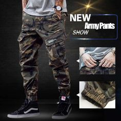 Discount This Month Fashion Classical Army Pants High Street Cotton Jeans Men Jogger Pants Brand Designer Big Pocket Military Cargo Pants Men Jeans Mens Jogger Pants, Cargo Pants Men, Joggers, Camo Pants, Denim Leggings, Army Jeans, Mens Clothing Brands, Cheap Mens Fashion, Tactical Pants