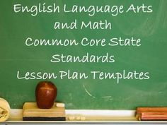 Included are This lesson plan templates created by Sarah Allred (MaEd, NBCT), for classroom lesson plans using the Common Core State Standards. A t...