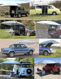 Ezy-Awning ...interesting awning for car, van, maybe even a truck camper, and very compact to pack.
