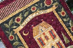 Welcome Wall Hanging Salt Box House by RedButtonQuilting