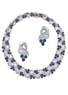 Graff Diamond Ad Hair and Jewels | Garrard Sapphire Diamond Jewelry