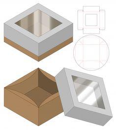 Diy Gift Box, Diy Box, Diy Arts And Crafts, Diy Craft Projects, Box Templates Printable Free, Paper Box Template, Cake Boxes Packaging, Packaging Design Box, Creative Box