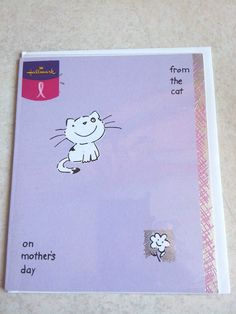 Mother's Day Card From the cat Hallmark Card Purple Spot on Roger Range