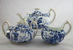 Mikado royal crown derby | ROYAL CROWN DERBY 'Blue Mikado' c.1920-34 tea pot, creamer, sugar (3pc ...