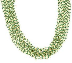Multi-Chain Colorful India Bead Necklace by Garold Miller