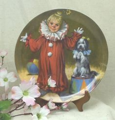 "Vintage 1982 McClelland Children's Circus Collection Series by John McClelland, ""Tommy the Clown"", Fine China,Bradex,#VB7072 by ckdesignsforyou. Explore more products on http://ckdesignsforyou.etsy.com"