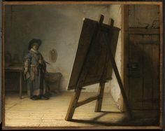 Rembrandt Harmensz. van Rijn (Dutch, 1606–1669), Artist in his Studio, about 1628. Oil on panel, 24.8 x 31.7cm (9 3/4 x 12 1/2in.). Museum of Fine Arts, Boston, 38.1838 © 2015 Museum of Fine Arts, Boston.
