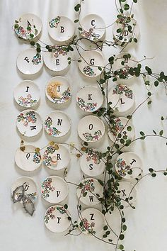 Monogrammed Garland Ring Dish at anthropologie. Kids could use their own initial and create stamps to press into dish. Monogram Ring Dish, Gifts Under 10, Karen, Home Gifts, Unique Gifts, Simple Gifts, Gifts For Her, Anthropologie, Decorative Plates