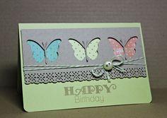 Schmettikarte mit Schmetti innen - Memory Box