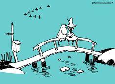 moomintroll & snufkin Moomin Valley, Tove Jansson, Illustration Art, Illustrations, Studio Ghibli, Girls Generation, Comic Strips, My Childhood, Cool Art