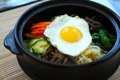 Bibimbap (Korean Rice Bowl with Vegetables and Beef) - Korean Bapsang
