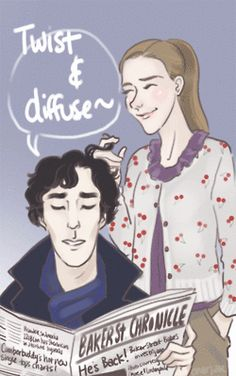 Happy Birthday Louise Brealey~! Way to live the dream :DDD  I had to draw them in character okay