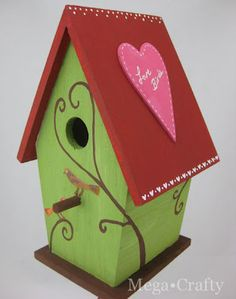 bird house gift  or have a blank bird house for guests to sign/write well wishes