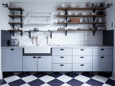 Costume designer Jacqueline Duran's North London kitchen looks both state of the art and timeless. Here's how to source the key elements.