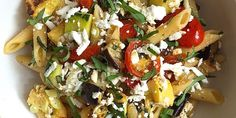Penne with Roasted Summer Vegetables and Ricotta Salata Recipe - How to Make Summer Penne Pasta