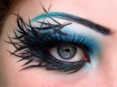 You can do so much with eye makeup #artymakeup #extrememakeup #exaggeratedeyes