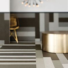Did you know Chilewich offers floor tiles in squares and planks? #Chilewich #chilewichcontract #interiordesign #contractdesign #installation #flooring