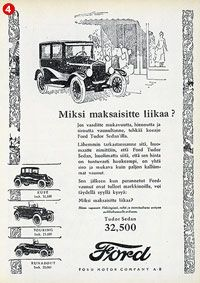 Ford Old Commercials, Old Ads, Vintage Ads, Cars And Motorcycles, Finland, Nostalgia, Ford, Helmet, Historia
