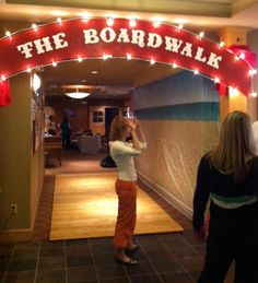Entrance to Graduation Boardwalk to Bellevue High Party