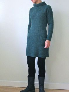 "#knit dress pattern (""Igloo"") by Heidi Kirrmaier; $6 on Ravelry"