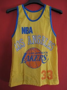 Maillot Basket Los Angeles NBA Lakers vintage années 80 USA - 14 ans | eBay