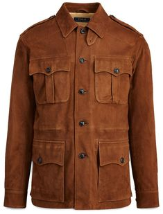 Polo Ralph Lauren Men s Safari Jacket Shearling Jacket, Suede Jacket,  Leather Jacket, Hunting a745621204d